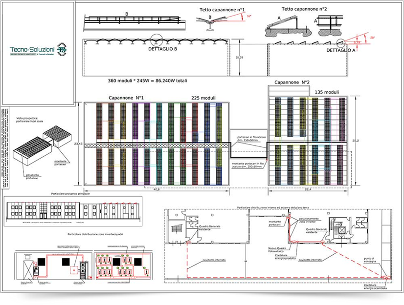 Ben noto Impianto fotovoltaico capannone industriale DW62